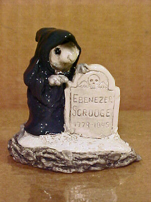"Wee Forest Folk Mouse CC-6 ""GHOST OF CHRISTMAS YET TO COME""-1987-By AP-Retired"