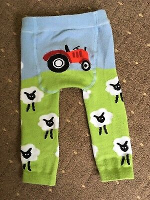Preloved Farm Sheep Tractor Thened Knitted Toghts Baby Boy 0-6 Months
