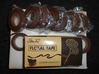 brown florist tape x7. New.13mm x 27.43m
