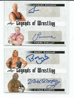 BARRY WINDHAM / 2 COLD SCORPIO  2018 Leaf Legends Of Wrestling  DUAL AUTOGRAPH