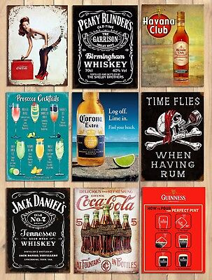 Metal signs plaques vintage retro style Coke bar Peaky Blinders home wall decor