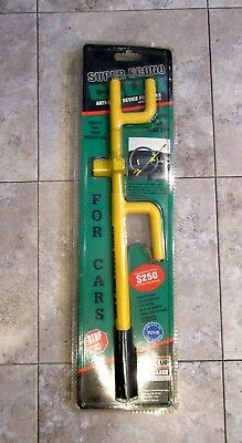 New AUTO ANTI THEFT YELLOW THE ECONO CLUB FOR CARS STEERING WHEEL LOCK #501