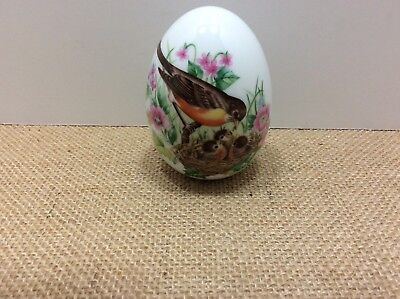 """Vintage 1984 Collectible AVON Egg Robins """"Every Spring Brings A New Beginning"""""""