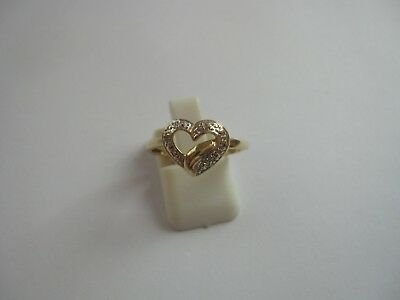 Adorable Bague Coeur Or Jaune 18 Cts