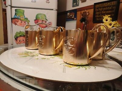REDUCED!  Six Vintage Smirnoff 12oz Moscow Mule Metal Copper Color Mug Hong Kong