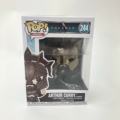 Funko Aquaman POP Arthur Curry As Gladiator 244 Vinyl Figure New Heroes