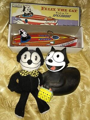 Felix The Cat Lot speedboat celebraduck & stuffed doll