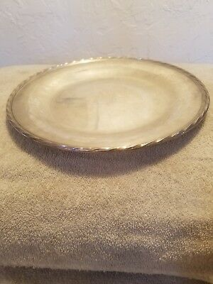 """Sterling Silver 11"""" Sandwhich Plate/Platter/Tray Towle.430 grams! Nice condition"""