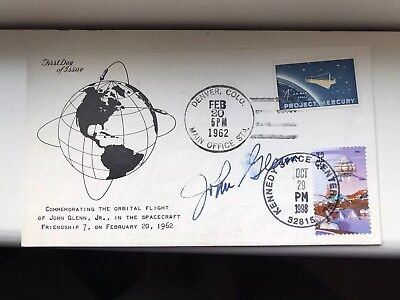 John Glenn Autograph And Official Nasa Photo