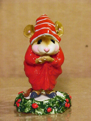 "Wee Forest Folk Mouse CC-1 ""EBENEZER SCROOGE""-1987-By AP-Retired 2001-Damaged"