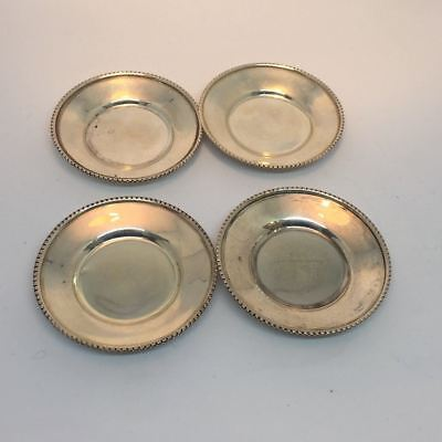 """Four Butter Pats Vintage EDWARD SAN GIOVANNI Sterling Silver 3"""""""