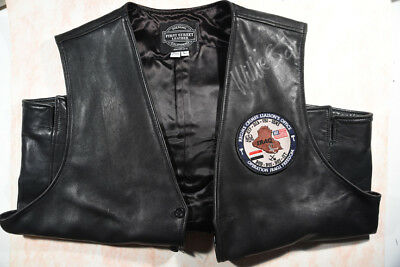 First Street Leather Vest Autographed by Willie G