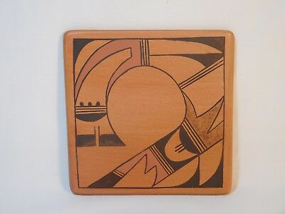 *no Reserve* Hopi Indian Pottery Tile By Amber Rain Naha.. Rainys Granddaughter