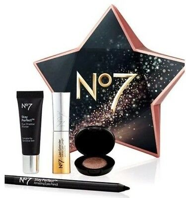 Boots No7 Starry Eyes Gift Box Eye Shadow Lash Extender Primer Eye Pencil BNIB