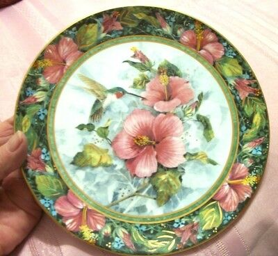 Royal Doulton Art Collector Plate The Imperial Hummingbird Franklin Mint