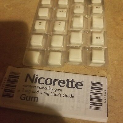 Nicorette Nicotine Gum Fruit Chill 2 mg 160 count  box damaged free shipping