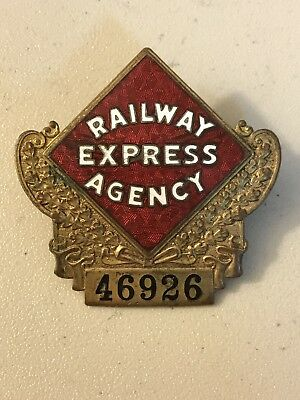 Vintage Railway Express Agency pin badge marked NYC