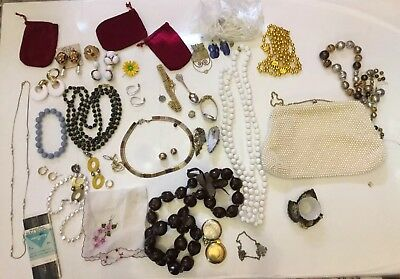 Vintage Estate Junk Drawer Lot Women's Jewelry And Other Items