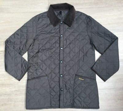 "Mens Genuine Barbour Quilted Liddesdale Jacket, Size Small (23"" Pit To Pit)"