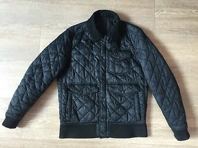 Mens Genuine Barbour Embleton Blouson Quilted Bomber Jacket, Size L