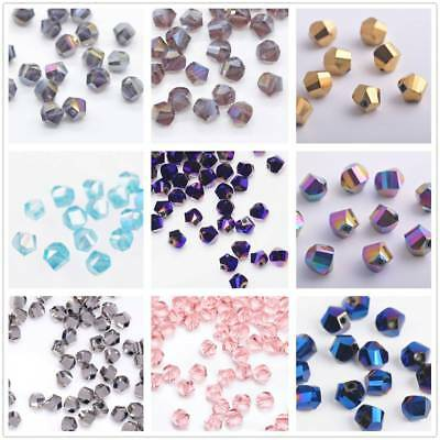 100pcs 6mm Twist Helix Rondelle Crystal Glass Loose Spacer Beads Jewelry Making