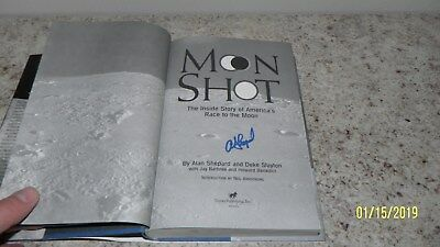 "Alan Shepard  Nasa Astronaut Signed Auto Autograph 1994 Book ""moon Shot"""