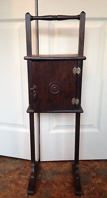 Vintage old small Wooden wood Humidor Smoking tobacco pipe Table Cabinet storage