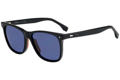 06436159c41b Fendi FF0002 S 807 KU Sunglasses Square Black Frame and Blue Lenses