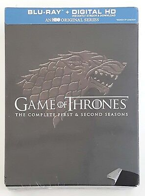 NEW Game Of Thrones: The Complete First & Second Seasons Blu-ray + Digital HD