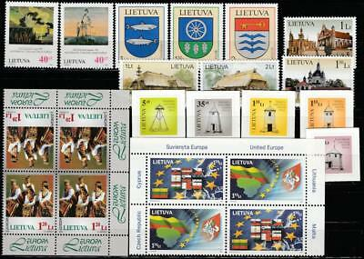 Lietuva Lithuania 1996-2007 Mnh Lot, Cv 25.70 Euro