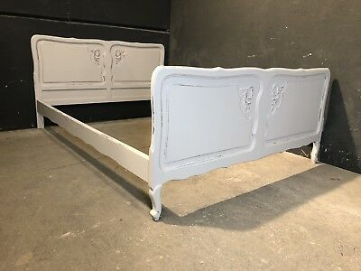 Vintage French Double size bed/ Painted French bed shabby chic style(VB318)