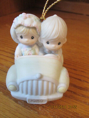 """Precious Moments By Enesco """"Our First Christmas Together"""" Car 1989 #183792"""