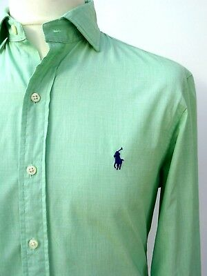 RALPH LAUREN Men's SLIM FIT Current! £90 SWEET PEA GREEN Shirt Size MEDIUM #3544