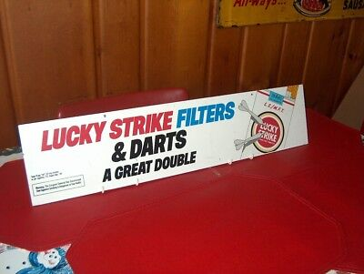 Antique Advertising Lucky Strike sign with darts. Great Man Cave
