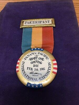 Panama-Pacific International Exposition Opening Day Participant Badge.