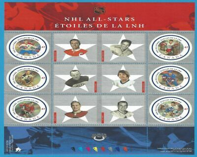Canada 2001 NHL All Star-2 Scott# 1885 Pane Of 6 Stamps