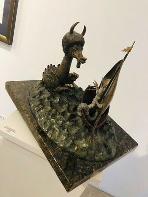 """Maurice Sendak Signed Bronze Sculpture """"Where The Wild Things Are"""" Rare!"""