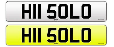 Solo Hi Solo  Private Cherished Number Plate Bargain
