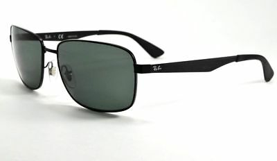 31a069d570 RAY-BAN RB3529 006 71 Matte Black Green Classic Sunglasses 58Mm New ...