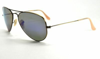 430761e0a4 Ray-Ban RB 3025 167 1m Violet Mirror Lens Bronze Frame Sunglasses Aviator 58
