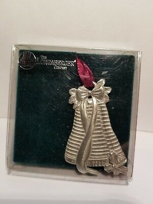 Longaberger ~ 1983 ~ Pewter ~ Bell basket ornament in box