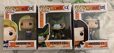 3 Funko Pop! DBZ! Android 17 & 18 & Perfect Cell~! Get These As Sets! All 3 Pops