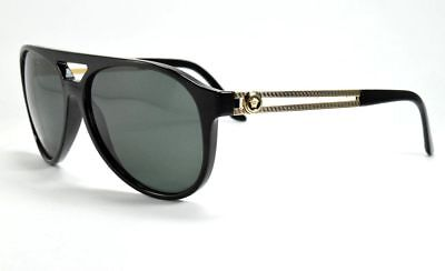 c32308fb023 VERSACE VE4312 4312 Black Rubber  Grey 5141 87 Sunglasses 4312 New ...