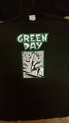 Vintage Green Day T Shirt Size Large 90s Rare Retro Punk HTF