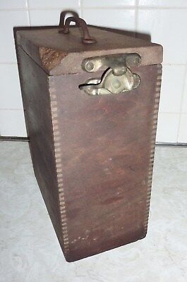 Antique Wood Laboratory Glass Box - Medical - Cool and Rare!