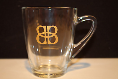 Vintage Original Bailey's Irish Cream Clear Glass Coffee Cup With Gold Tone