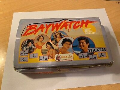 1993 BAYWATCH STICKERS Full Box TRADING CARDS 50 PACKS MADE IN ITALY Merlin