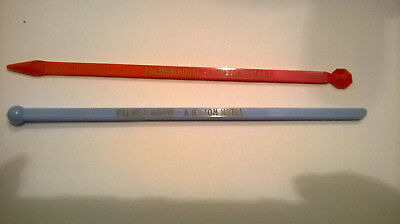 Palmer House - A Hilton Hotel 2 Vintage Swizzle Sticks Drink Stirrers Chicago