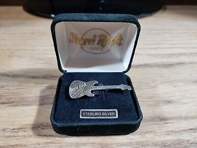 Hard Rock Cafe New Orleans Small Sterling Silver Fender Stratocaster Guitar Pin
