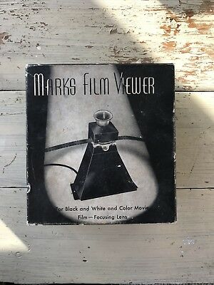 ANTIQUE MARKS FILM VIEWER TESTED AND WORKING 16mm 8mm